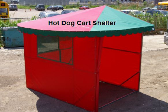 Hot dog cart shelter